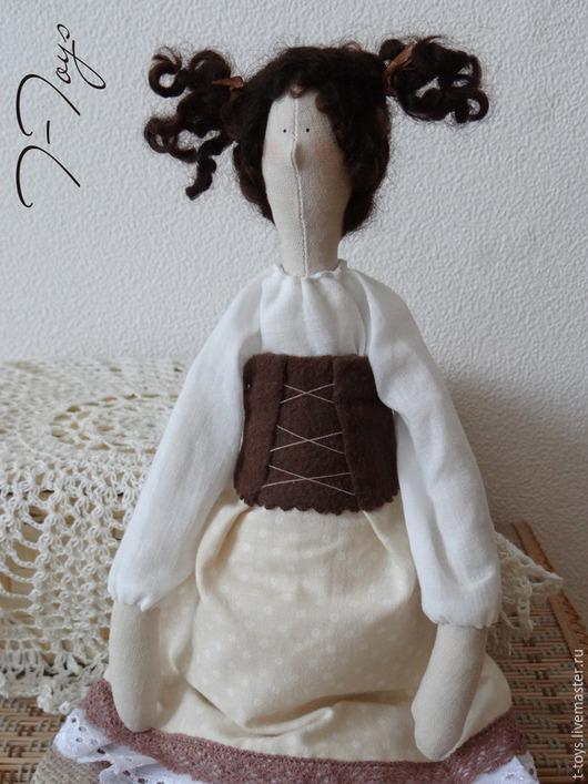 Куклы Тильды ручной работы. Ярмарка Мастеров - ручная работа. Купить Марта, кофейная девочка. Handmade. Коричневый, кукла интерьерная