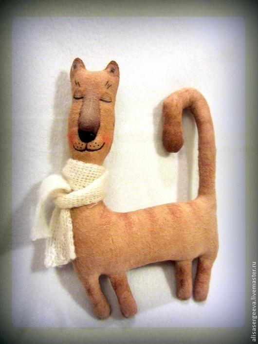 Ароматизированные куклы ручной работы. Ярмарка Мастеров - ручная работа. Купить Кошечка Сплюша. Handmade. Коричневый, киска, полиэстер