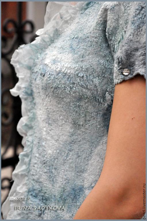 """Платья ручной работы. Ярмарка Мастеров - ручная работа. Купить Платье валяное """"Нежность"""". Handmade. Голубой, нунофелтинг, шёлк натуральный"""