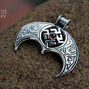 Украшения handmade. Livemaster - original item Lunnitsa with pomegranate and the symbol of