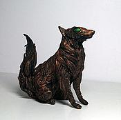 Фен-шуй и эзотерика ручной работы. Ярмарка Мастеров - ручная работа треххвостая лиса Кицунэ фигурка игрушка лисица. Handmade.