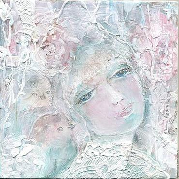 Картины и панно ручной работы. Ярмарка Мастеров - ручная работа Пано, картина- сказка, Дикая роза. Дева шиповник. Handmade.