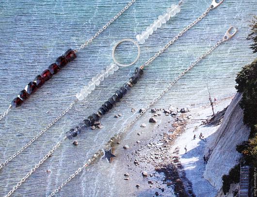Браслеты ручной работы. Ярмарка Мастеров - ручная работа. Купить Тонкие браслеты с полудрагоценными камнями. Handmade. Разноцветный, браслет из граната