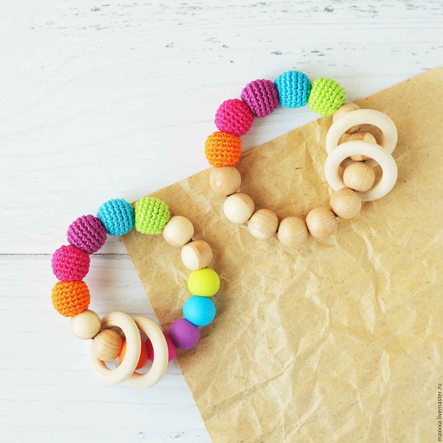 Teethers - gryzunki and wrapped with silicone beads, Slingbus, Ryazan,  Фото №1