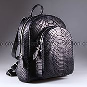 Сумки и аксессуары handmade. Livemaster - original item Python leather backpack IMP0529B. Handmade.
