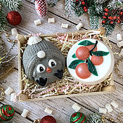 Косметика ручной работы handmade. Livemaster - original item Bird Soap Set with Tangerines. Handmade.