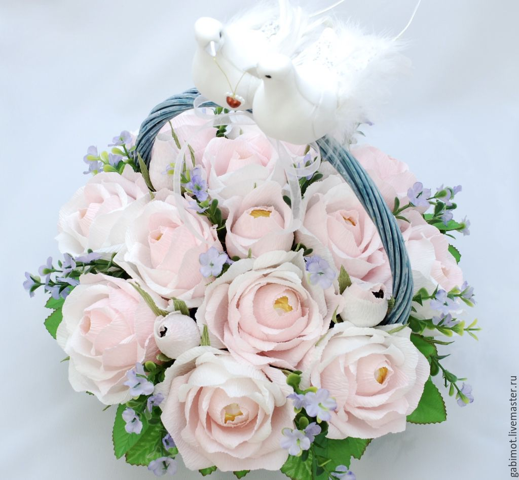 букеты из конфет свадебные фото