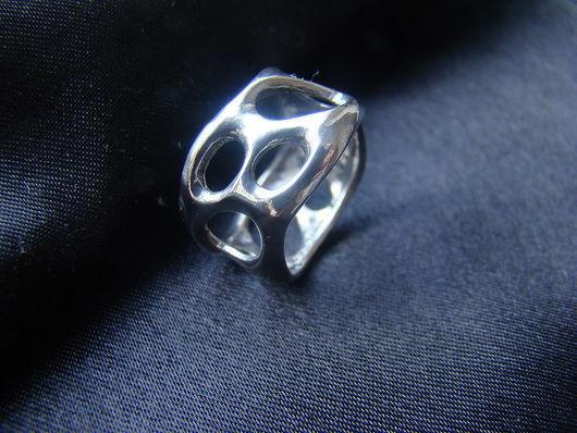 """Кольца ручной работы. Ярмарка Мастеров - ручная работа. Купить Кольцо """"Дырявое"""". Handmade. Серебро, кольцо из серебра, серебряный"""