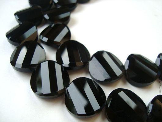 Для украшений ручной работы. Ярмарка Мастеров - ручная работа. Купить Бусины хрустальные, граненые, диаметр 18 мм, черный. Handmade.