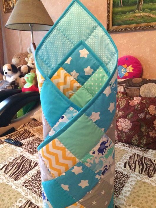Пледы и одеяла ручной работы. Ярмарка Мастеров - ручная работа. Купить Детский лоскутный конверт на выписку одеяло плед. Handmade.