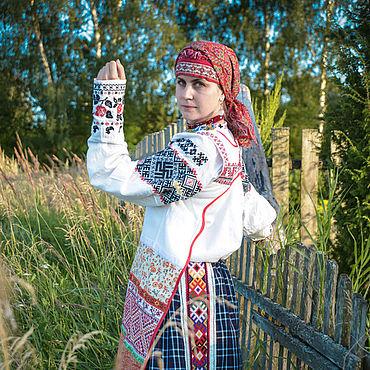 Русский стиль ручной работы. Ярмарка Мастеров - ручная работа Рубаха смоленская женская. Handmade.