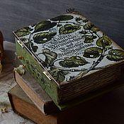 """Для дома и интерьера ручной работы. Ярмарка Мастеров - ручная работа Шкатулка книга """"Ботанические рисунки"""". Handmade."""