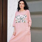 Платья ручной работы. Ярмарка Мастеров - ручная работа Платье льняное Пыльная Роза. Handmade.