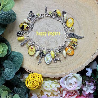 Decorations handmade. Livemaster - original item Bracelet Harry Potter Cursed child yellow. Handmade.