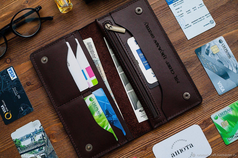 Leather wallet - purse MADRID, Wallets, Volgograd,  Фото №1
