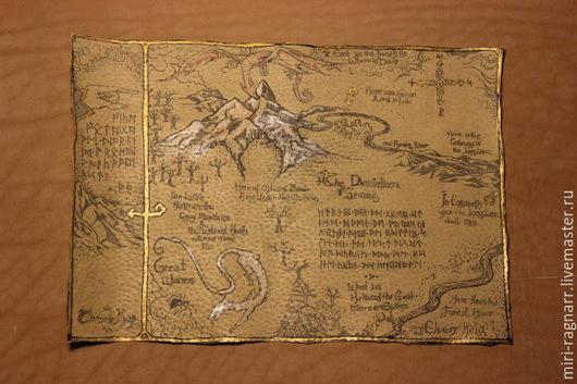 Фантазийные сюжеты ручной работы. Ярмарка Мастеров - ручная работа. Купить Карта из кожи. Handmade. Кожа, лак, подарок
