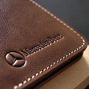 Канцелярские товары handmade. Livemaster - original item Cover for auto documents / / / MERCEDES. Handmade.
