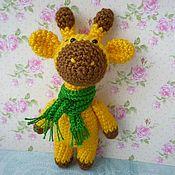 Мягкие игрушки ручной работы. Ярмарка Мастеров - ручная работа Жираф вязаный. Handmade.