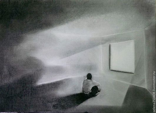 Люди, ручной работы. Ярмарка Мастеров - ручная работа. Купить Личное пространство.. Handmade. Черный, белый цвет, картина для интерьера