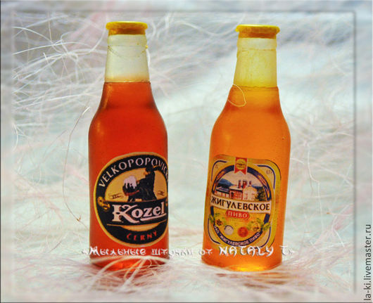 """Мыло ручной работы. Ярмарка Мастеров - ручная работа. Купить Мыло """"Бутылочка пива"""". Handmade. Разноцветный, бутылочка пива"""