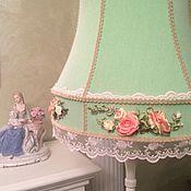 Для дома и интерьера ручной работы. Ярмарка Мастеров - ручная работа Абажуры в стиле Прованс с вышивкой. Handmade.