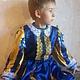 """Детские карнавальные костюмы ручной работы. Ярмарка Мастеров - ручная работа. Купить Принц из """"Золушки"""". Handmade. Тёмно-синий, парча"""