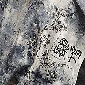 """Аксессуары ручной работы. Ярмарка Мастеров - ручная работа Платочек шейный """"Юкими"""" ручная роспись, батик, шелк. Handmade."""