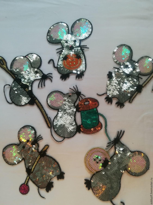 """Набор аппликации """" Портняжки-мышки в стиле D & G"""", Аппликации, Москва,  Фото №1"""