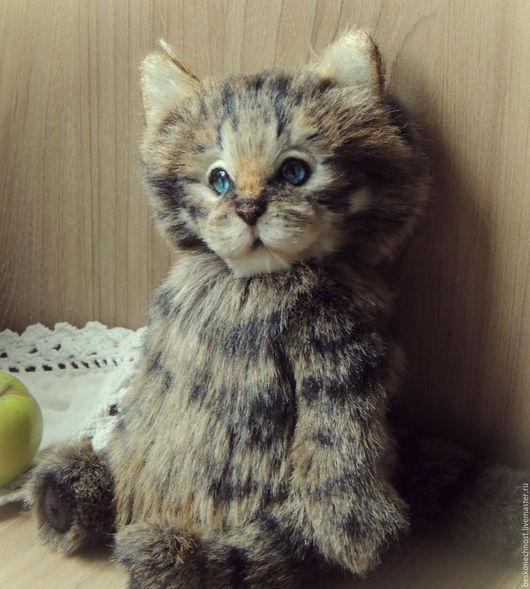 Мишки Тедди ручной работы. Ярмарка Мастеров - ручная работа. Купить Котик. Кот тедди. Портрет кота.. Handmade. Серый