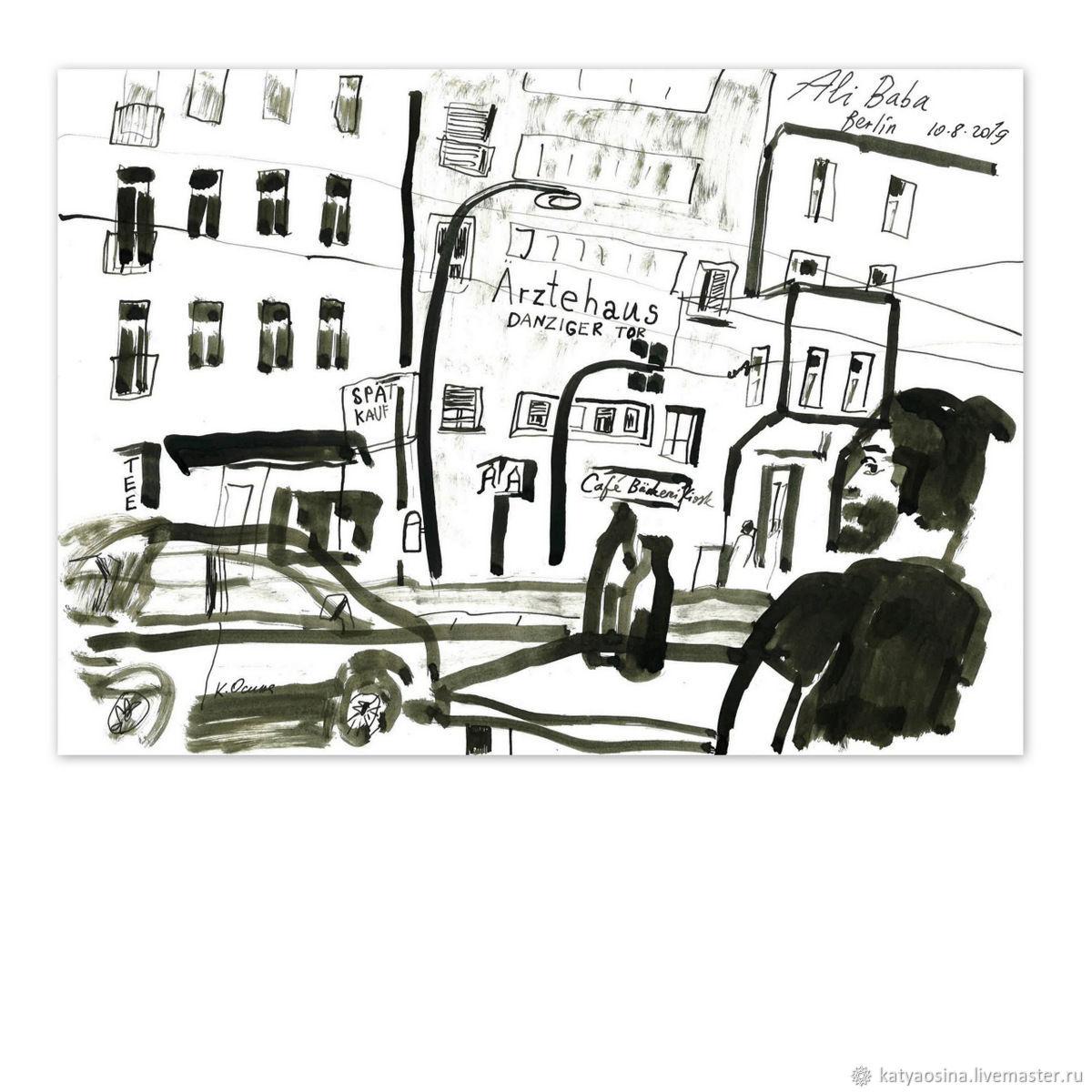 "Картина ""Вид из кафе Ali-Baba"", Картины, Москва, Фото №1"