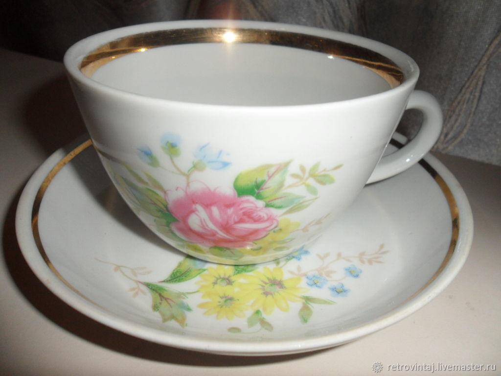 """Винтаж: Чайные пары. """"Роза"""", Винтажные кружки, Москва, Фото №1"""