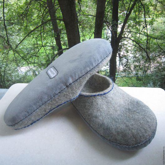 Тапочки валяные мужские, размер 30 см.