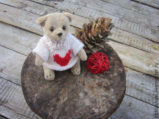 Мишки Тедди ручной работы. Ярмарка Мастеров - ручная работа. Купить Мишка в свитере.Тедди.. Handmade. Белый, тедди медведи