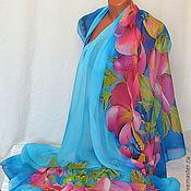 Одежда handmade. Livemaster - original item silk pareo batik hips. Handmade.