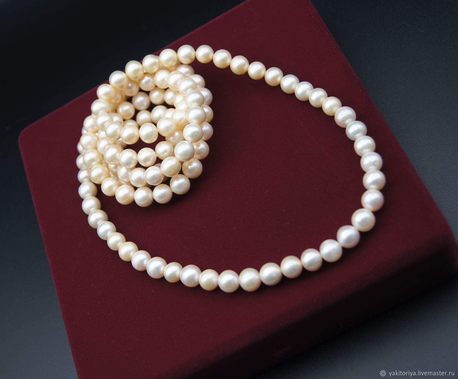 AAA grade natural pearl beads, Necklace, Moscow,  Фото №1