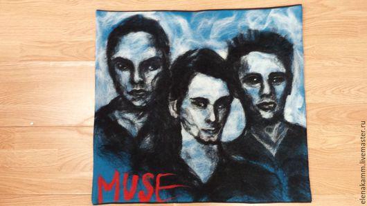 Люди, ручной работы. Ярмарка Мастеров - ручная работа. Купить MUSE. Handmade. Валяние из шерсти, картина из шерсти, музыкант, muse
