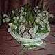 Цветы ручной работы. Ярмарка Мастеров - ручная работа. Купить Подснежники. Handmade. Подснежникик, цветы из бисера, бисерные цветы, чешски