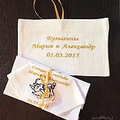 Glasses handmade. Livemaster - original item Handkerchiefs Swans wedding anniversary. 1 year. Handmade.