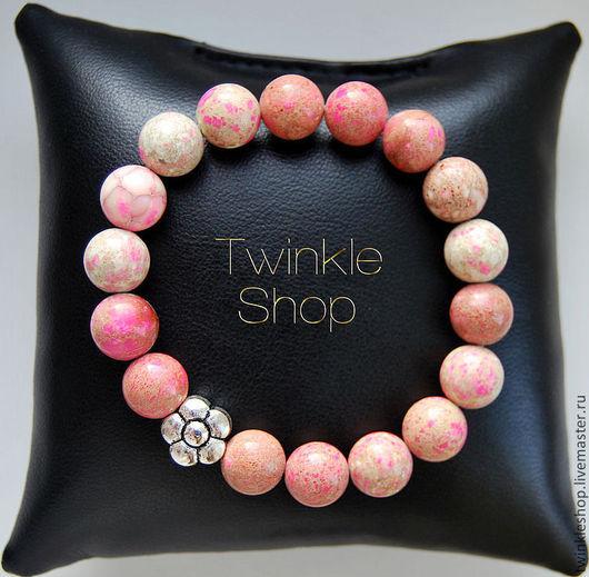 Браслеты ручной работы. Ярмарка Мастеров - ручная работа. Купить Прекрасный браслет из розового варисцита. Handmade. Бледно-розовый, овен