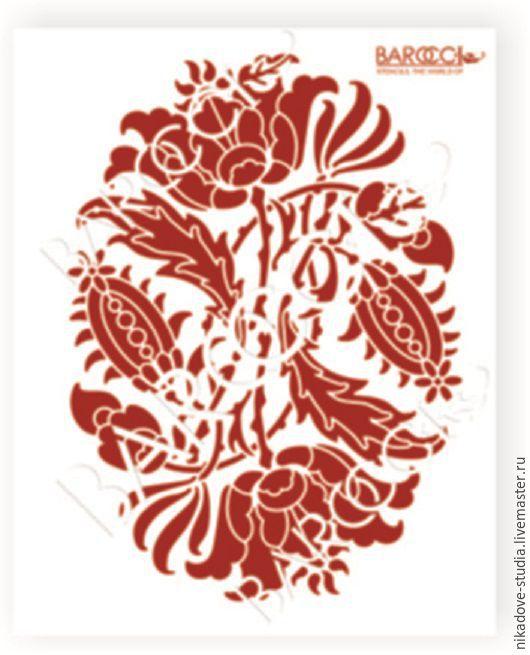 Декупаж и роспись ручной работы. Ярмарка Мастеров - ручная работа. Купить Фон - Медальон (Ф-50) - трафарет barocci. Handmade.
