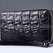 Сумки и аксессуары handmade. Livemaster - original item Clutch bag in crocodile leather with two zippers IMA0002B35. Handmade.