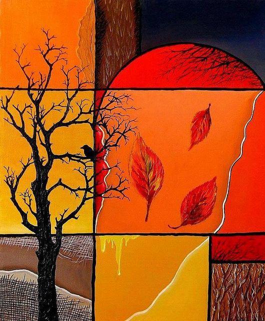 """Абстракция ручной работы. Ярмарка Мастеров - ручная работа. Купить """" Жизнь"""". Handmade. Абстракция, дерево жизни, древо жизни"""