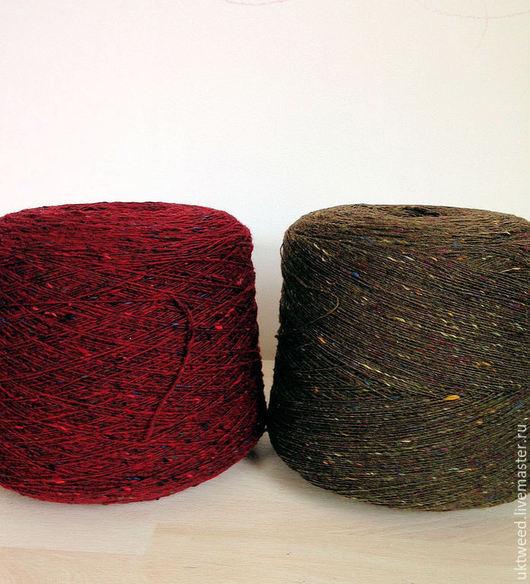 Вязание ручной работы. Ярмарка Мастеров - ручная работа. Купить Soft Donegal Tweed -100% меринос. Handmade. Хаки