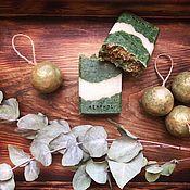 Мыло ручной работы. Ярмарка Мастеров - ручная работа Menthol. Натуральное освежающее мыло со спирулиной и ментолом. Handmade.