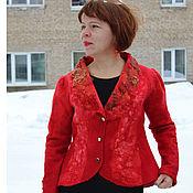 Одежда handmade. Livemaster - original item Jacket felted Red Moscow. Handmade.