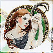 Картины и панно ручной работы. Ярмарка Мастеров - ручная работа Портрет по фото традиционными материалами. Handmade.