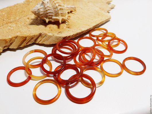 Кольца ручной работы. Ярмарка Мастеров - ручная работа. Купить Кольцо из сердолика тонкое 17-20.5. Handmade. Рыжий
