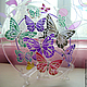 """Тарелки ручной работы. Ярмарка Мастеров - ручная работа. Купить Тарелка """"Бабочки"""". Handmade. Тарелка, новогодний подарок, стекло"""