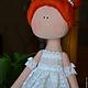 Куклы тыквоголовки ручной работы. Балеринка. Елена (elenadollworld). Интернет-магазин Ярмарка Мастеров. Рыжая кукла, кукла балерина