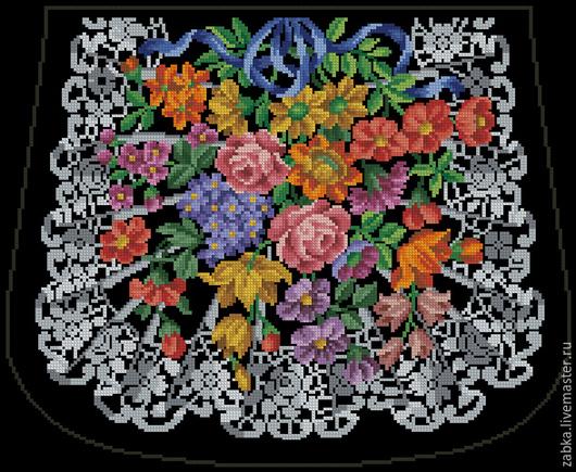 Вышивка ручной работы. Ярмарка Мастеров - ручная работа. Купить Кружево цветов (дизайн для сумочки). Handmade. Разноцветный, сумочка